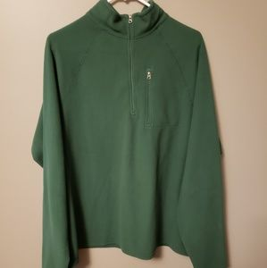 LLBean Mens 1/4 fleece Pullover size L